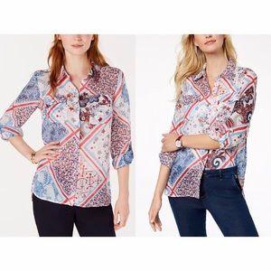 tommy hilfiger multicolor printed shirt